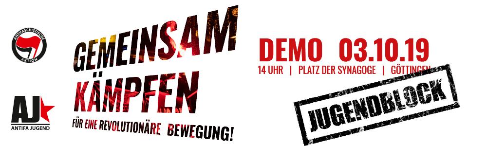 """""""Gemeinsam Kämpfen! Für eine Revolutionäre Bewegung"""" – Demonstration – Kommt zum JugendBlock!"""